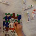 Atelier de pictură pe sticlă la Comăna de Jos