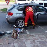Accident rutier la BIG. Un biciclist a ajuns la spital