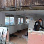 FOTO. A început operațiunea de demolare în Făgăraș