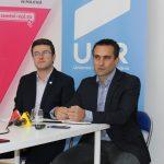 Conferință de presă la Făgăraș, cu senatorul USR, Allen Coliban