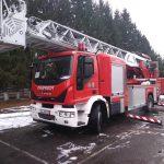 Autospecială nouă pentru lucru la înălțime, pentru pompierii făgărășeni