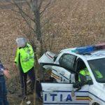 Accident pe DN1, între Scoreiu și Porumbacu de Jos. O mașină a Poliției, implicată