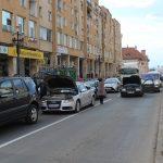 """FOTO- VIDEO """"România vrea autostrăzi"""" – 15 minute de protest și la Făgăraș"""
