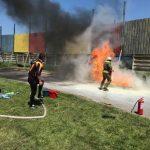 A venit și rândul profesioniștilor!  Pompierii, în concurs, pe Stadionul Municipal Făgăraș (Video)