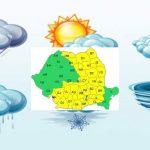 Informări de vreme instabilă în aproape toată țara.  Aversele vin după orele prânzului