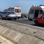 Accident pe DN1, la ieșire din Codlea spre Făgăraș. Un microbuz cu 10 călători, implicat