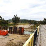 Construcția noului pod din satul Hălmeag, în plină desfășurare