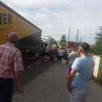 Accident rutier la ieșire din Ghimbav. Trei TIR-uri implicate, o persoană încarcerată