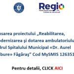 """Lansarea proiectului """"Reabilitarea, modernizarea şi dotarea ambulatoriului din cadrul Spitalului Municipal «Dr. Aurel Tulbure» Făgăraş"""" – Cod MySMIS 126351"""