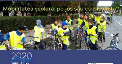 Mobilitatea școlară: pe jos sau cu bicicleta?