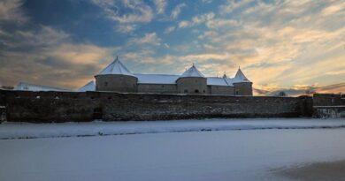 Lucrări de iarnă la Cetatea Făgăraş