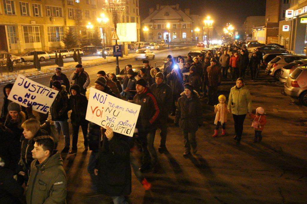 protest fagaras